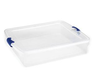Homz Latching Clear Storage - 56 Qt