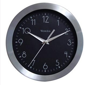 "9"" Metal Wall Clock"