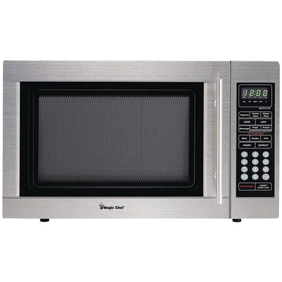 Magic Chef(R) MCD1310ST 1.3-Cubic-ft Countertop Microwave (Stainless Steel)