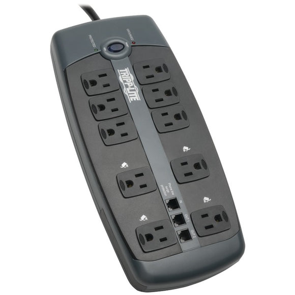 Tripp Lite(R) TLP1008TEL 10-Outlet Surge Protector with Telephone Protection (without Coaxial Protection)