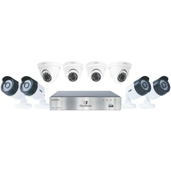 Guardian G7844D2 8-Channel 1080p 2TB Surveillance System with 8 Cameras