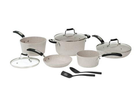 THE ROCK™ by Starfrit 10-Piece Cookware Set with Bakelite® Handles
