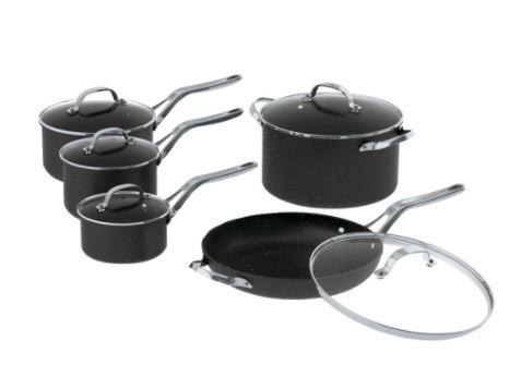 THE ROCK™ by Starfrit 10-Piece Cookware Set with Stainless Steel Handles