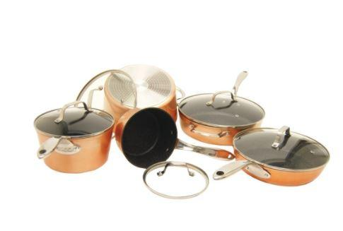 THE ROCK™ by Starfrit® 10-Piece Copper Cookware Set
