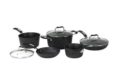 THE ROCK™ by Starfrit 8-Piece Cookware Set with Bakelite® Handles
