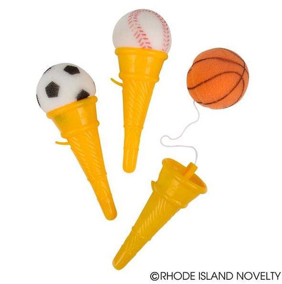 SPORTS BALL ICE CREAM CONE SHOOTER