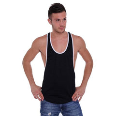 Dri Fit Tank Top 2 Tone Racer Back Black