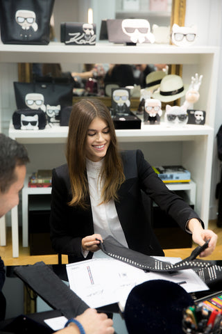 Kaia Gerber for Karl Lagerfeld: the latest celebrity collaboration