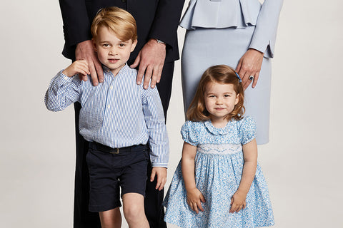 Prince George and Princess Charlotte's Shoes Are on Point for the Royal Family Portrait