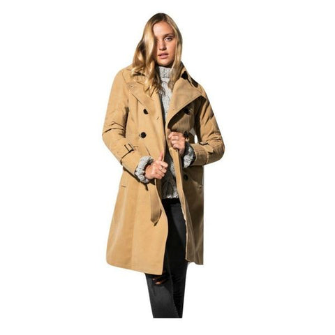 Vegan Suede Coat Anne Camel Color