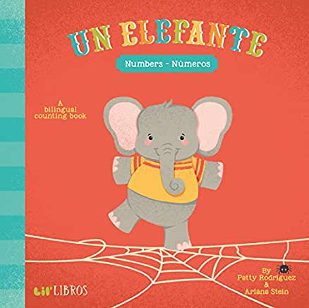 Un Elefante : Numbers-Numeros-Booklandia-bilingual-spanish-childrens-books