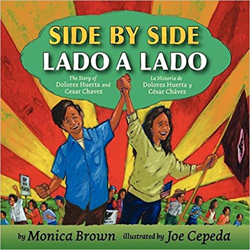 Side by Side/Lado a Lado: The Story of Dolores Huerta and Cesar Chavez-Booklandia-bilingual-spanish-childrens-books
