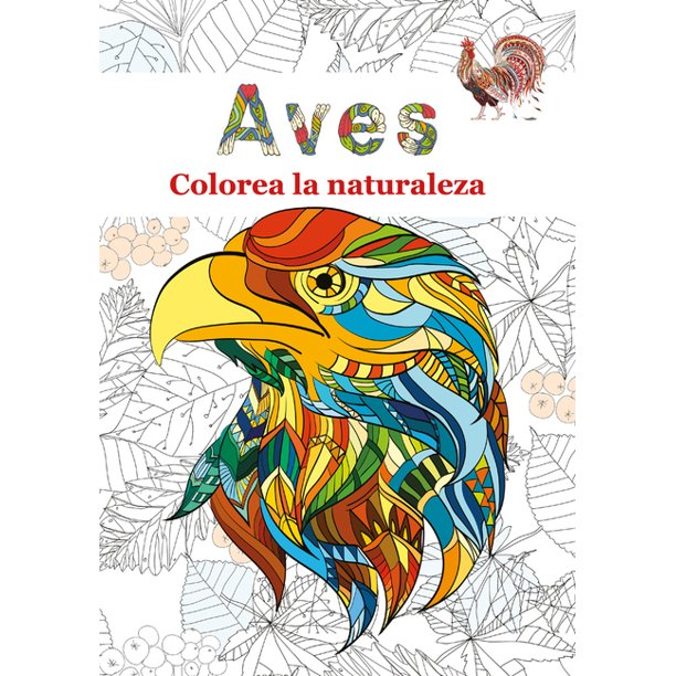 Aves, Volume 2: Colorea La Naturaleza-Booklandia-bilingual-spanish-childrens-books