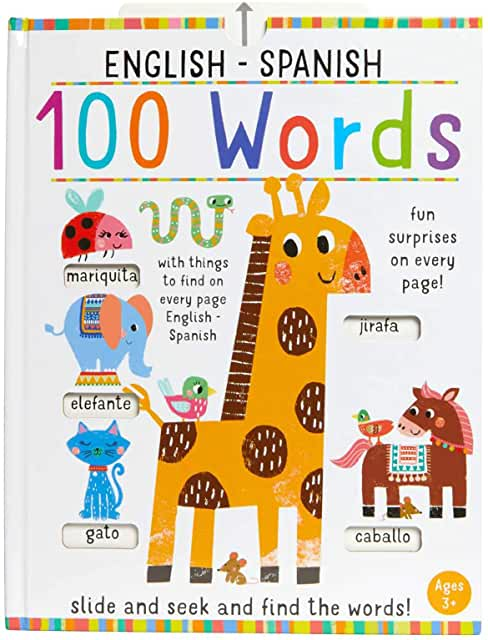 Slide and Seek 100 Words English- Spanish-Booklandia-bilingual-spanish-childrens-books