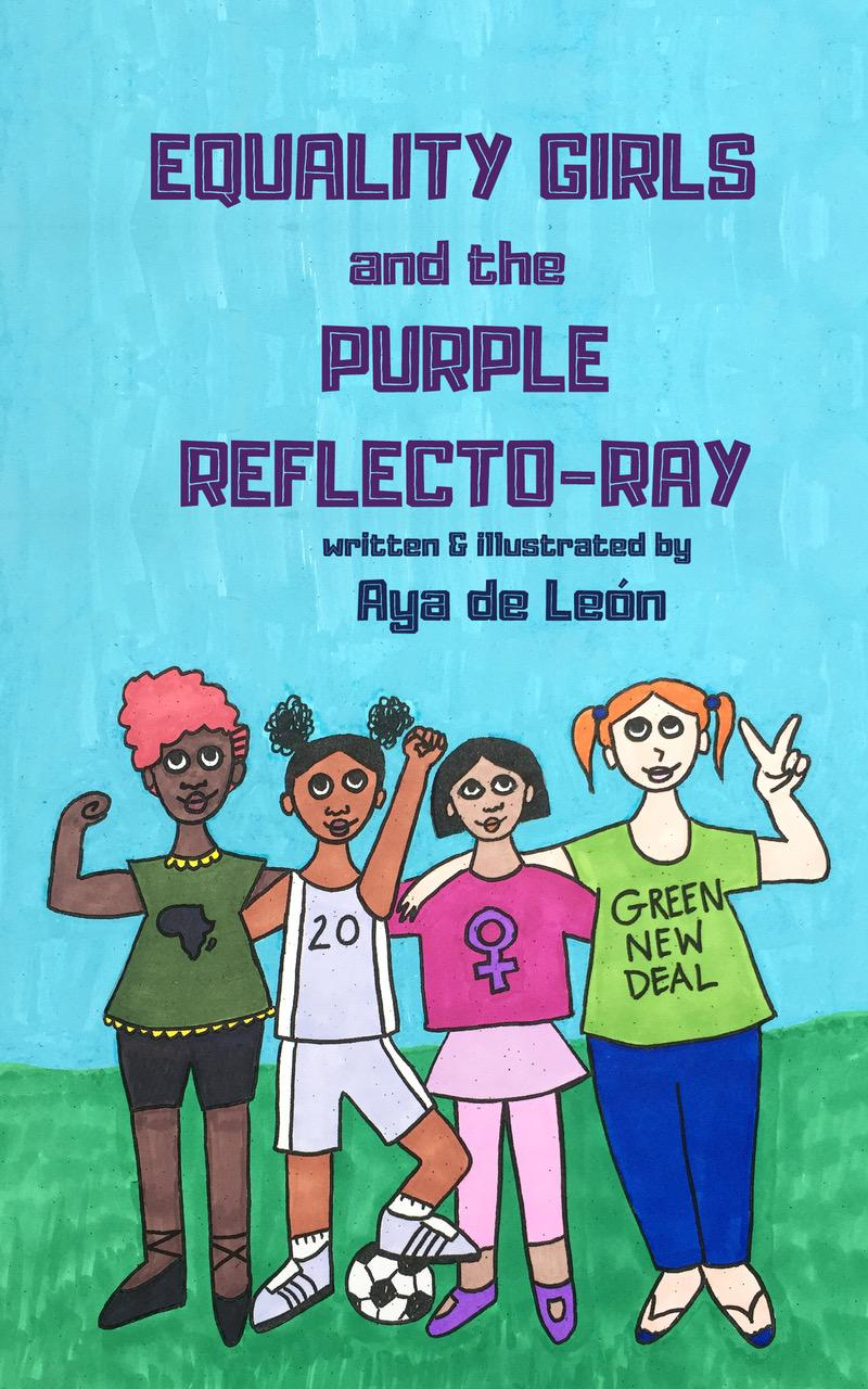 Equality Girls and the Purple Reflecto-Ray ( Equality Girls #1 )-Booklandia-bilingual-spanish-childrens-books