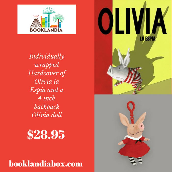Olivia Book and Backpack Peluche Set