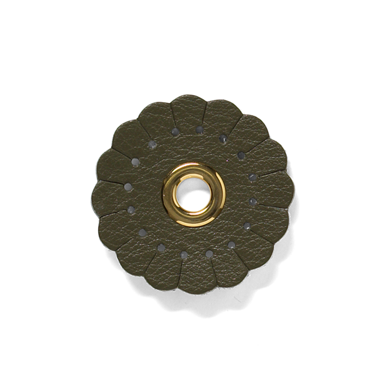 Duzies - Scalloped Flower - Olive Green