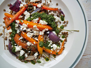 HONEY GLUTTONY - HONEY-ROAST CARROT & LENTIL SALAD
