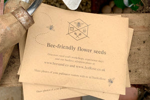 Organic Bee-friendly Flower Seeds