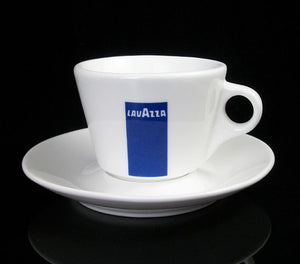 Lavazza Ancap China cups + Saucers ( Cappuccino Size ) FREE DELIVERY WITHIN THE UK ONLY - amrcoffeepods