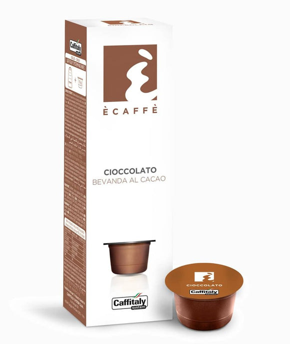 CAFFITALY ECAFFE CIOCCOLATO CHOCOLATE CAPSULES (10 Packs of 10 Capsules) FREE DELIVERY WITHIN THE UK ONLY - amrcoffeepods