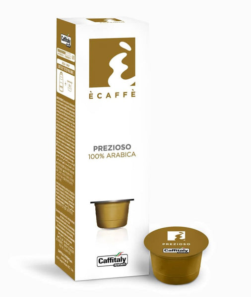 CAFFITALY ECAFFE PREZIOSO COFFEE CAPSULES (10 Packs of 10 Capsules) FREE DELIVERY WITHIN THE UK ONLY - amrcoffeepods