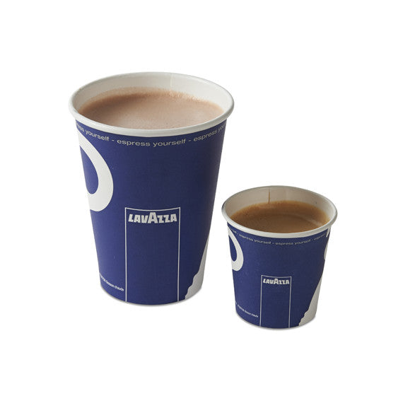 Lavazza T/A paper cups 8oz ( Cappuccino Size) FREE DELIVERY WITHIN THE UK ONLY - amrcoffeepods