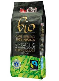 MOLINARI ARABICA ORGANIC FAIRTRADE COFFEE BEANS 1KG