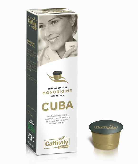 CAFFITALY ECAFFE CUBA COFFEE CAPSULES (10 Packs of 10 Capsules) FREE DELIVERY WITHIN THE UK ONLY