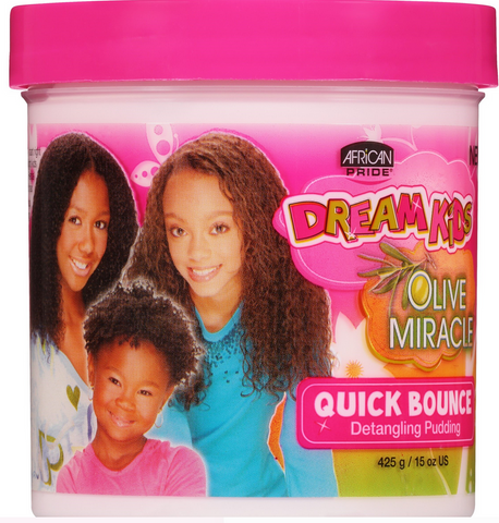 African Pride Dream Kids Olive Miracle Quick Bounce Detangling Pudding, 15 Oz - Textured Tech
