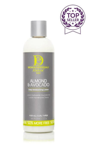 DESIGN ESSENTIALS ALMOND AND AVOCADO DAILY MOISTURIZING LOTION - Textured Tech