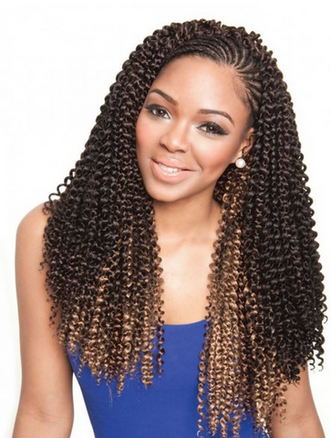 "CARIBBEAN BUNDLE BRAID ""CORK SCREW"" - Textured Tech"