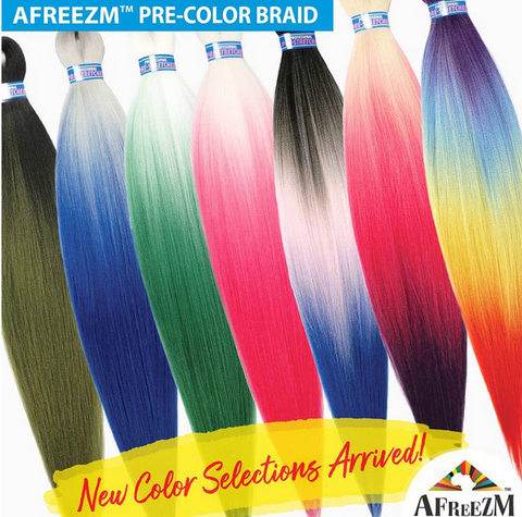 AFREEZM PRESTRETCHED COLOR BRAID - Textured Tech