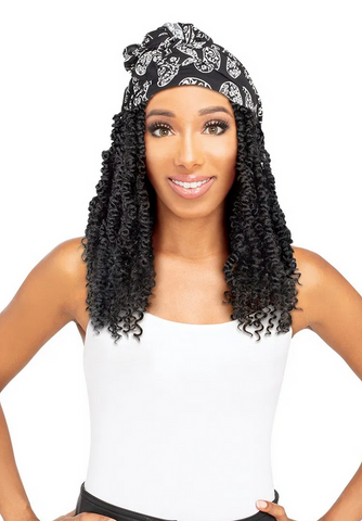 ZURY SYNTHETIC HAIR SCARF WIG - PASSION TWIST - Textured Tech