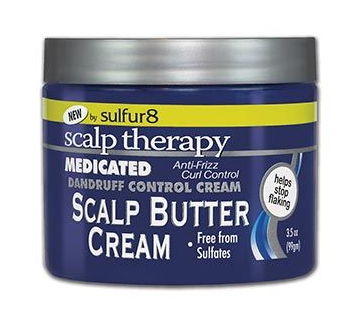SULFUR 8 MEDICATED DANDRUFF CONTROL SCALP BUTTER CREAM 3.5OZ - Textured Tech