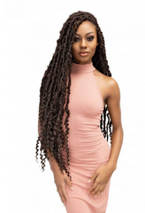 "JANET COLLECTION MAVERICK LOCS 18"" - Textured Tech"
