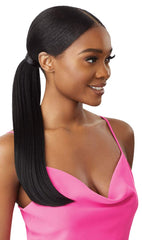 "OUTRE PRETTY QUICK SALON STYLE WRAP PONY TAIL SLEEK STRAIGHT 16"" - Textured Tech"