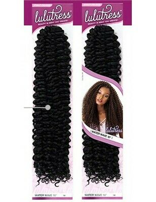 "LULUTRESS CROCHET BRAID ""WATER WAVE"" 18"" - Textured Tech"