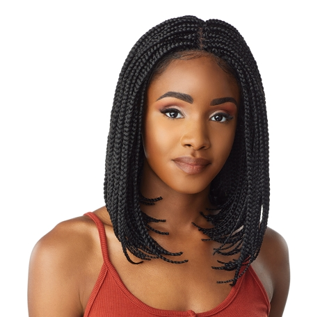 CLOUD 9 SWISS LACE HAND BRAIDED BOB WIG 4X4 PARTING SPACE