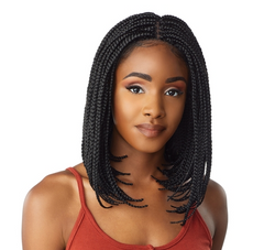 CLOUD 9 SWISS LACE HAND BRAIDED BOB WIG 4X4 PARTING SPACE - Textured Tech