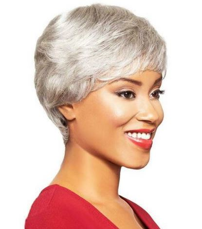 FOXY SILVER WIG COLLECTION HUMAN HAIR LACE WIG ELAINE - Textured Tech