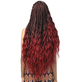 "Bobbi Boss Synthetic Hair Braids Pre-Feathered 3X King Tips Body Wave 28"" - Textured Tech"