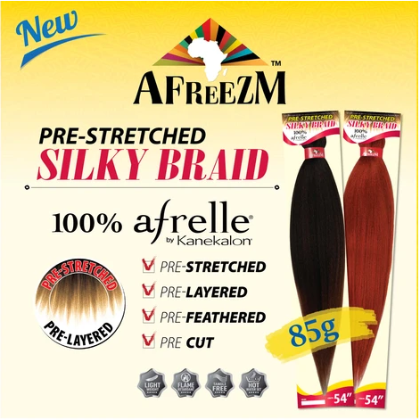 AFREEZM PRESTRETCHED SILKY BRAID 100% KANEKALON