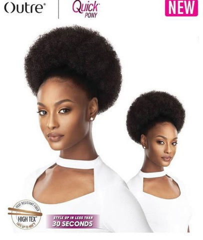 OUTRE QUICK PONY AFRO PUFF XL - Textured Tech