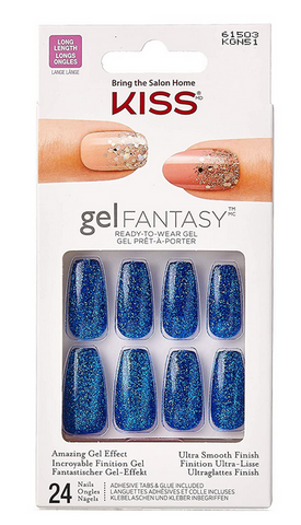 KISS GEL FANTASY NAILS 24PCS - Textured Tech