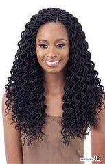 "KINGSTON KING TWIST FAUX LOCS ""SOFT CURLY"" 12IN - Textured Tech"