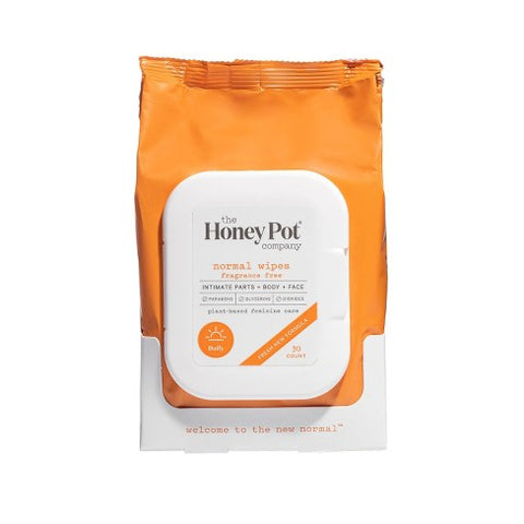 The Honey Pot Normal Wipes (30 count) - Textured Tech
