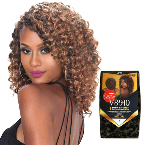 ZURY V8910 GOGO CURL CROCHET BRAID - Textured Tech