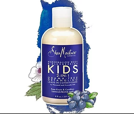 Shea Moisture KIDS Marshmallow Root & Blue Berries 2N1 LV-IN 8OZ - Textured Tech