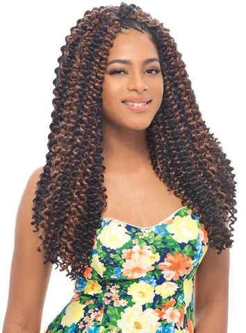 Janet Collection Water Wave Crotchet Braid - Textured Tech